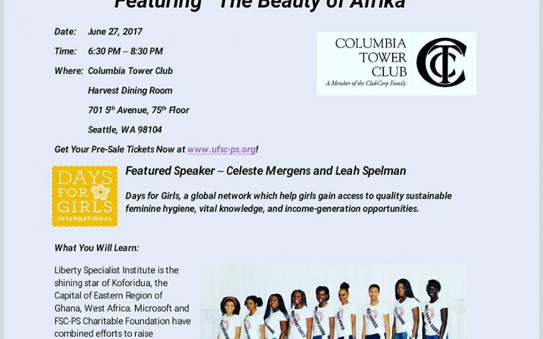 "6th Annual ""Hear the Cries of Africa"" luncheon, Fashion Show and Fundraising"